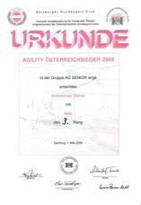 AG-Österreich Sieger 2009 am 1. Mai 2009 beim Salzburger Hundesport Club in Salzburg