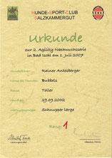 2. Agilitynachwuchsserie am 1. Juli 2007 beim Hundesportclub Salzkammergut in Bad Ischl