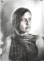 """""""Alex"""", 42 x 29,7cm, Kohle auf Papier, 2020"""