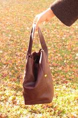 grand sac seau non-doublé pièce unique mmd-papillonne