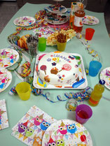 Kuchen buffet mit torte Kindergeburtstag Indoor Düsseldorf für Mädchen