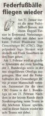 Cronenberger Woche Bericht vom 30.01.2004