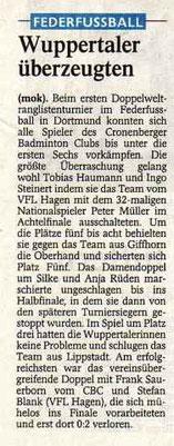 Westdeutsche Zeitung Bericht vom 30.01.2003