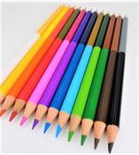 crayons de couleur bicolores rico design
