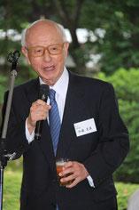 加藤 当会名誉会長、乾杯の音頭