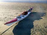 Kajak auf dem Mittelgrund im Wattenmeer