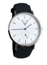 Uhr mit schwarzem Filzband