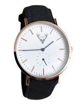 roségoldene Uhr mit schwarzem Filzband Tracht