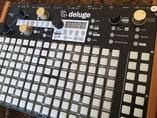 Xluge Pads, Instrument Overlay von mxpand - für Synthstrom Audible Deluge, Synthesizer, Sampler, Sequencer, Groovebox, hochwertige Bedien-Schablone/Skin/Folie