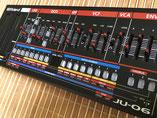 Xtique JUX6, Instrument Overlay von mxpand - für Roland Boutique JU-06, Synthesizer, Vintage Juno 106, hochwertige Bedien-Schablone/Skin/Folie