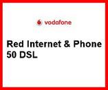 Telefonanschluss von Vodafone mit Festnetz gibt es im Komplettpaket mit DSL 50