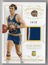 RICK BARRY / Springfield Swatches - No. SPS-RB (#d 14/20)