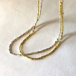necklace silver&gold