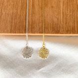crochet motif ROSE necklace