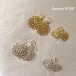crochet motif ROSE earrings