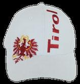 """Kappe """"Tirol"""" + Adler, weiß"""
