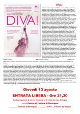 Rivergaro: Cinema sotto le Stelle estate 2020 - quarto appuntamento giovedì 13 agosto ore 21,30 -  DIVA!