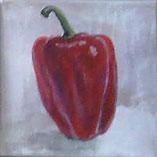 toile peinte poivron rouge