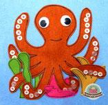 Spielbuch, Fühlbuch, Octopus, Anleitung, Schablone