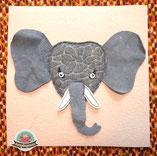 Fühlbuch Kleinkind Spielbuch Filz Stoffbuch Feinmotorik Elefant