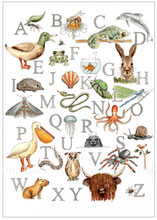 Tier ABC, Vintage Poster, Download Poster, Animal Poster