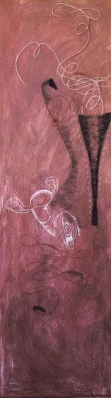 Inmovilizada 2003, pastel 180X53 cm
