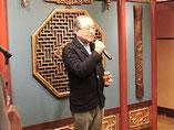 中島名誉副会長の乾杯の音頭でスタート  山本名誉会長。新年会のハシゴで途中からの参加。お忙しいことです。