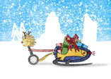 """Geschenk für Weihnachten: Segway-Gutschein, Motiv """"Weihnachten Schlitten"""""""
