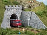 eingleisige Tunnelportale, Plastik-Modellbausatz der Firma Auhagen, 11342