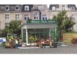 Blumenladen, Plastik-Modellbausatz der Firma Busch, 1049