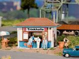 Trinkhalle Imbiss, Plastik-Modellbausatz der Firma Faller, 130462