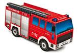 Feuerwehrwagen,  Kinder-Bastelbögen