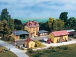 Bahnhof Wachstädt, Plastik-Modellbausatz der Firma Auhagen, 15102