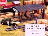Holz-Handlung, Plastik-Modellbausatz der Firma Busch, 6047