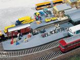 Bahnhof Bahnsteigverlängerung, Plastik-Modellbausatz der Firma Faller, 120185
