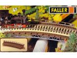 gebogenes Gleisbett, Plastik-Modellbausatz der Firma Faller, 120554