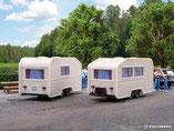 2 Wohnwagen, Modellbausatz der Firma Vollmer, 45147