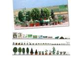 Blumen- und Pflanzenkübel, Modellbausatz der Firma Busch, 1211
