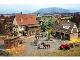 Bauernhof, Bauerngehöft, Plastik-Modellbausatz der Firma Vollmer, 3720