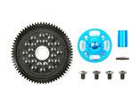 TT-02 Tuningteil, TAMIYA 300054500, High Speed Gear Set , Highspeed Getriebeset 68T  Alu blau                      Alu blau
