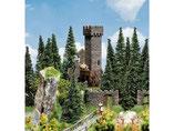 Burg-Ruine, Plastik-Modellbausatz der Firma Faller, 130285