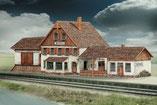 619, Bahnhof Friedbach ,  Schreiber-Bogen Kartonmodell im Maßstab 1:x
