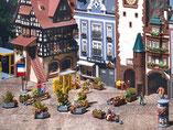 Stadtausschmückung, Modellbausatz der Firma Faller, 180585