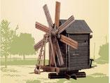 Windmühle, Kartonbausatz der Firma Umbum, Rußland, 181