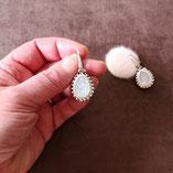 goutte poire opale en cristal taillé