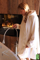 Herren Bio Sauna Bademantel extra lang Wellnessmantel Morgenmantel