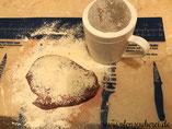 Gebackene Leber in der Ofenhexe oder Zauberstein oder Ofenzauberer von Pampered Chef mit Streufix und Schneidfest aus dem Onlineshop