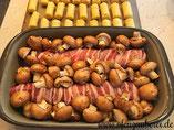 Lende Jäger Art in der Ofenhexe mit Kroketten vom Zauberstein als Grundset von Pampered Chef