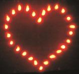 Lichterbild Herz für Hochzeitsfeuerwerk