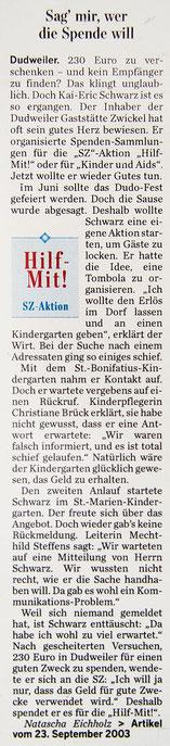SZ-Artikel vom 23.09.2003 – Draufklicken zum Vergrößern!